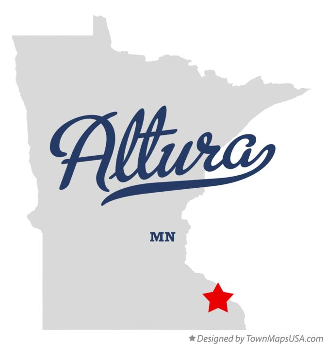 Map of Altura Minnesota MN