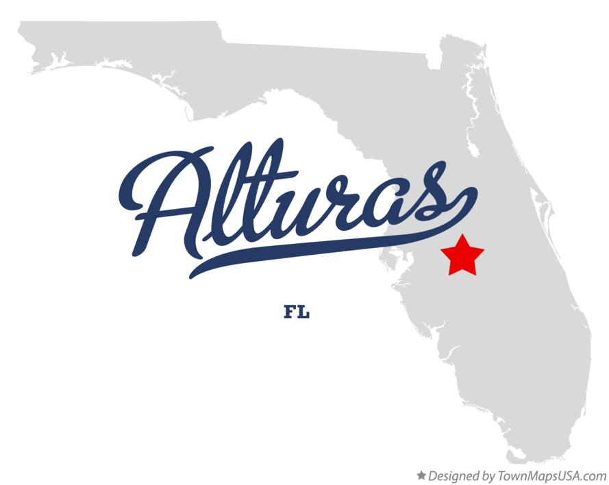 Map of Alturas Florida FL