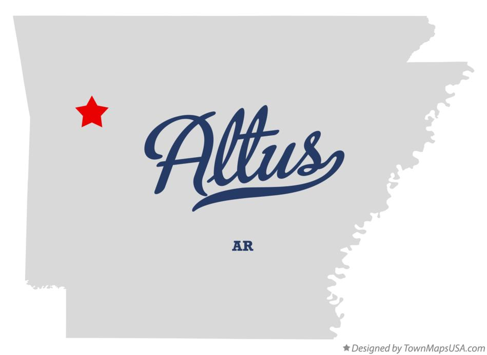 Map of Altus Arkansas AR