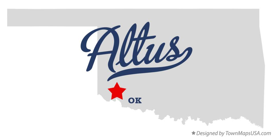 Map of Altus Oklahoma OK