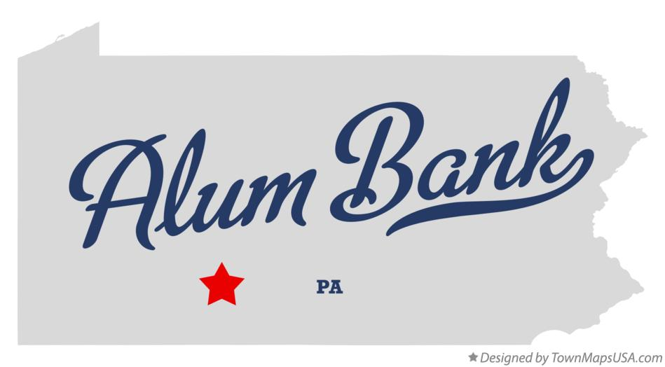 Map of Alum Bank Pennsylvania PA