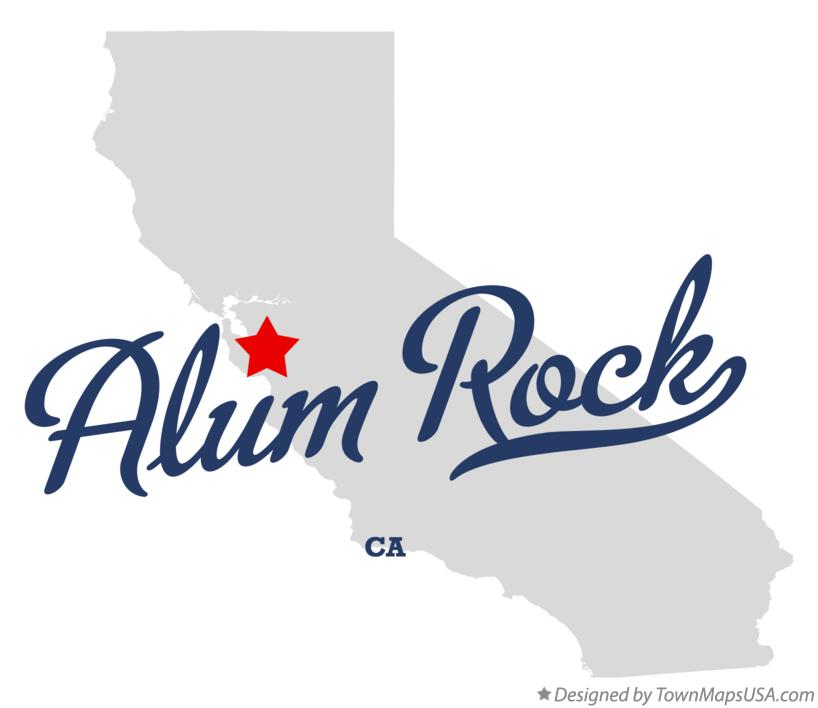 Map of Alum Rock California CA