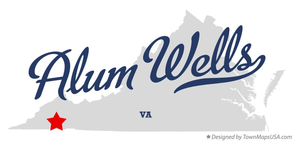 Map of Alum Wells Virginia VA