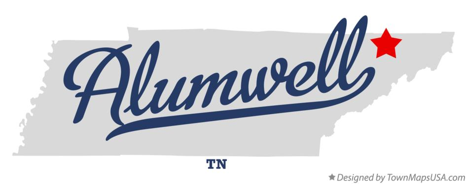 Map of Alumwell Tennessee TN