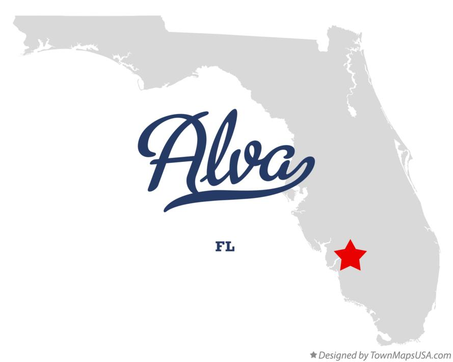 Map of Alva Florida FL