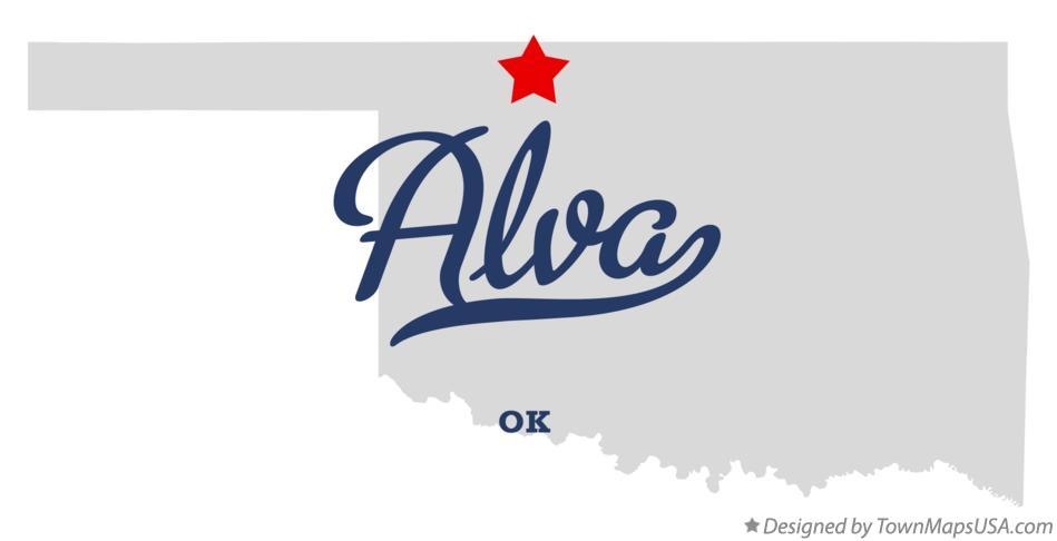 Alva (OK) United States  city photos gallery : Map of Alva, OK, Oklahoma