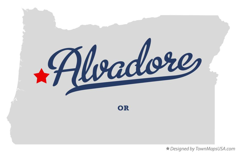 Map of Alvadore Oregon OR