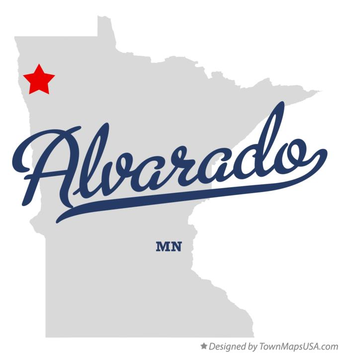 Map of Alvarado Minnesota MN