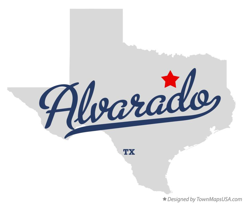 Map of Alvarado Texas TX