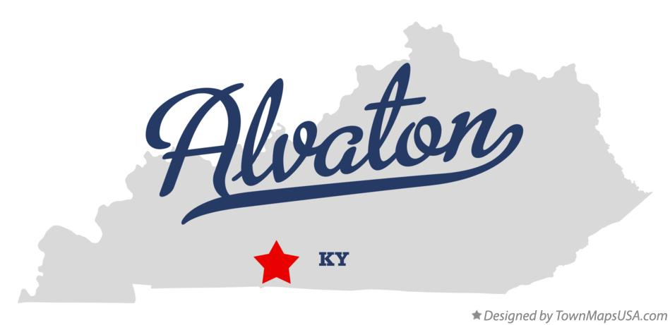 Map of Alvaton Kentucky KY