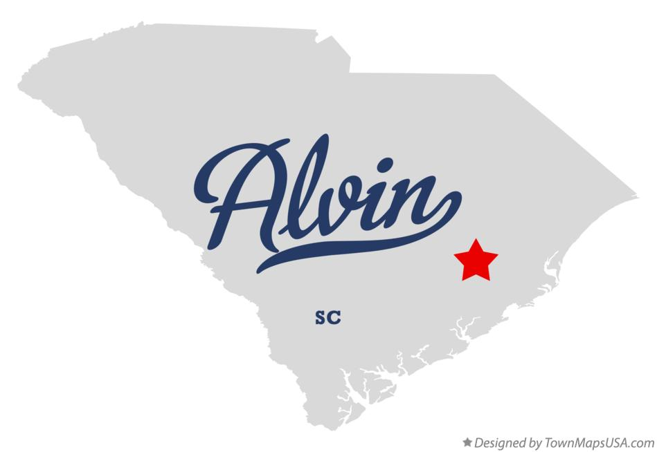 Map of Alvin South Carolina SC