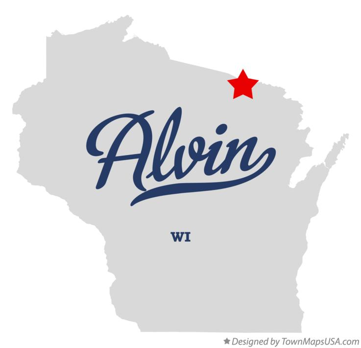 Map of Alvin Wisconsin WI