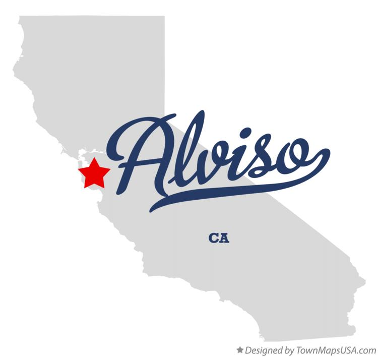 Map of Alviso California CA