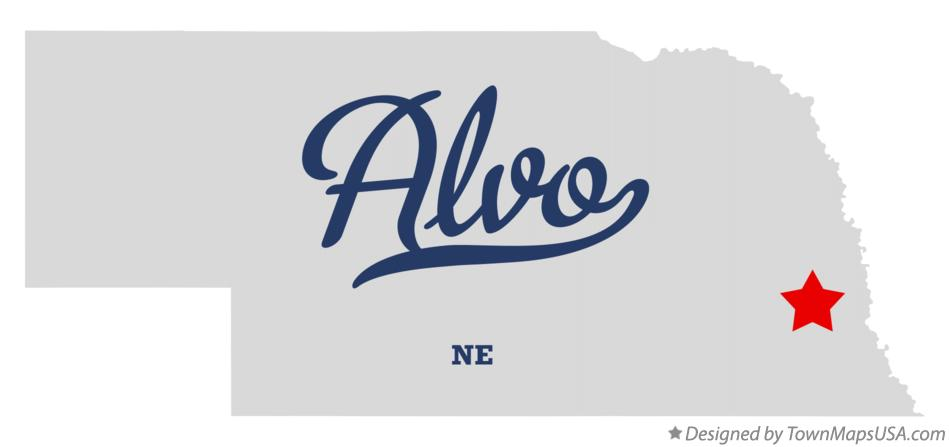 Map of Alvo Nebraska NE