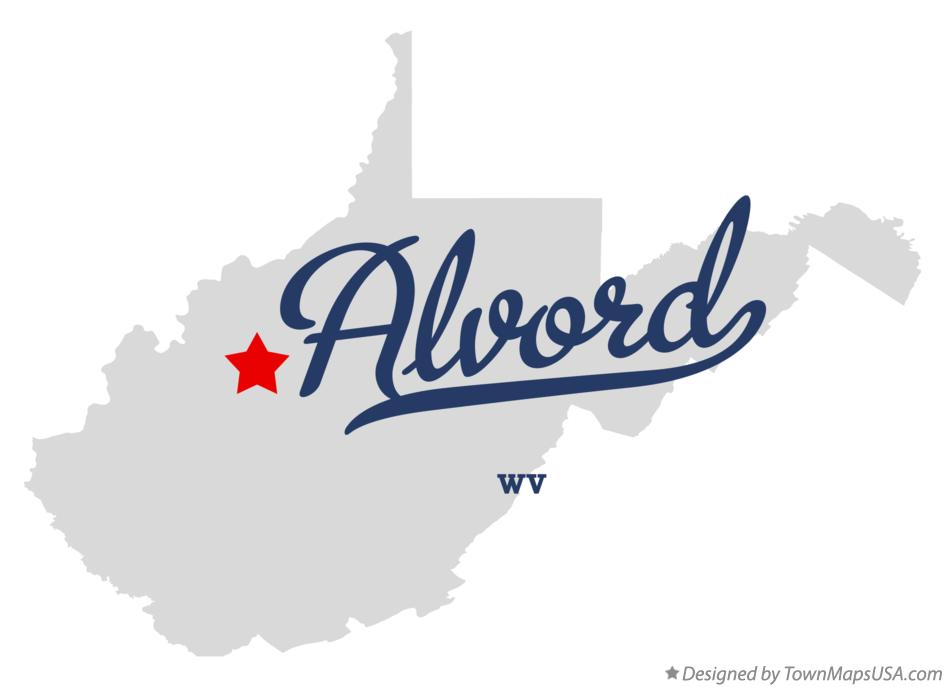 Map of Alvord West Virginia WV