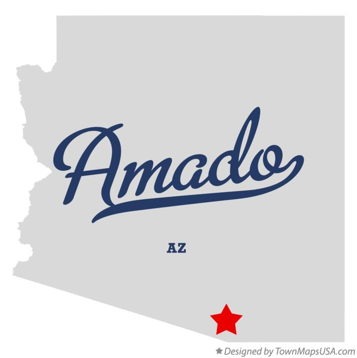 Map of Amado Arizona AZ