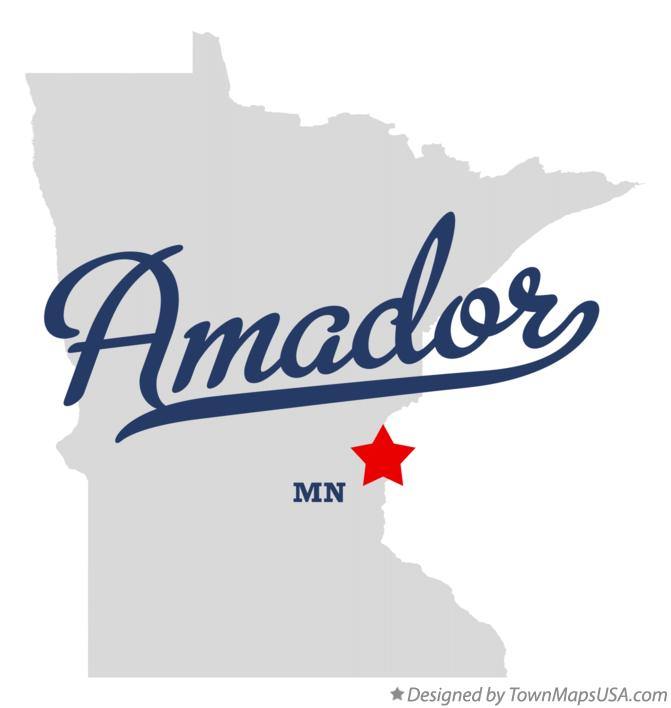 Map of Amador Minnesota MN