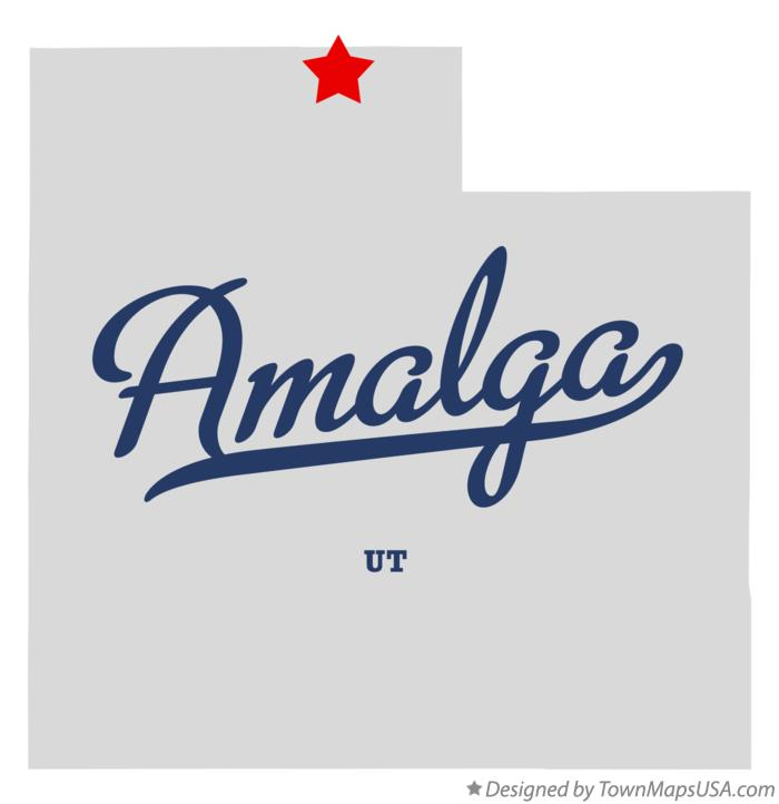 Map of Amalga Utah UT