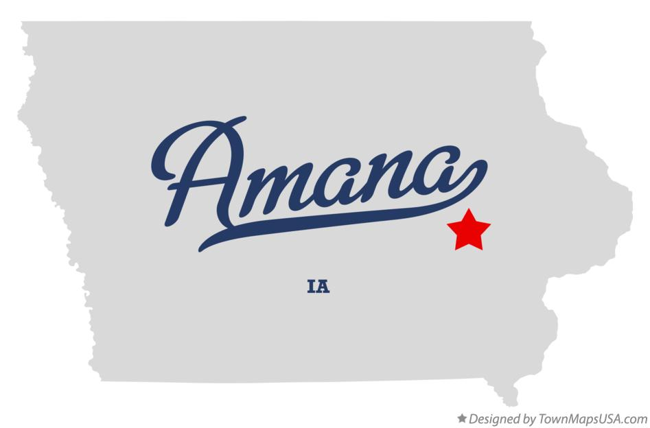 Map of Amana Iowa IA