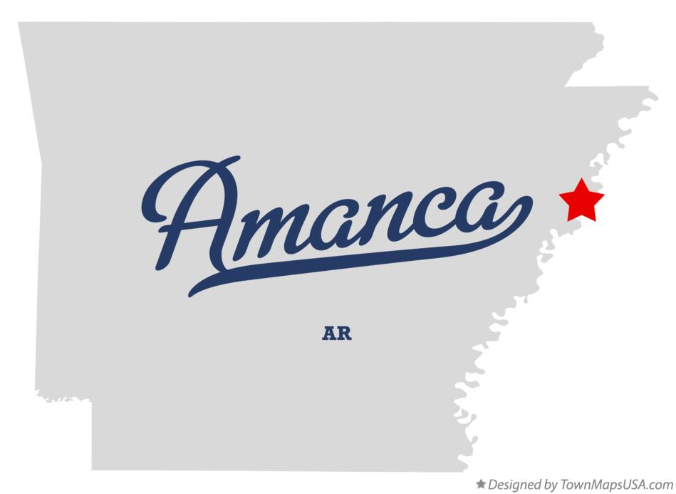Map of Amanca Arkansas AR