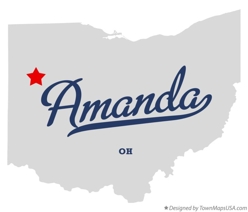 Map of Amanda Ohio OH