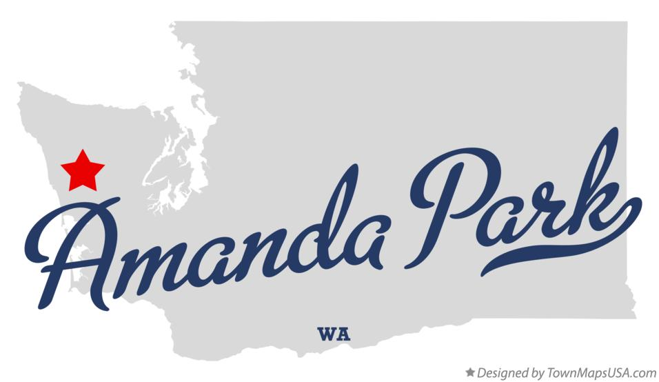 Map of Amanda Park Washington WA