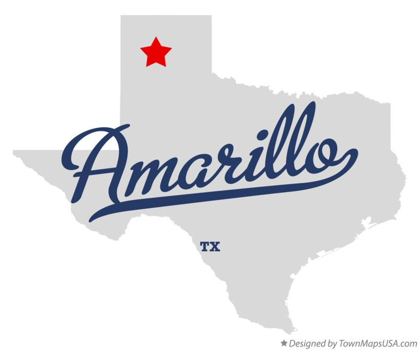 Texas Map Amarillo