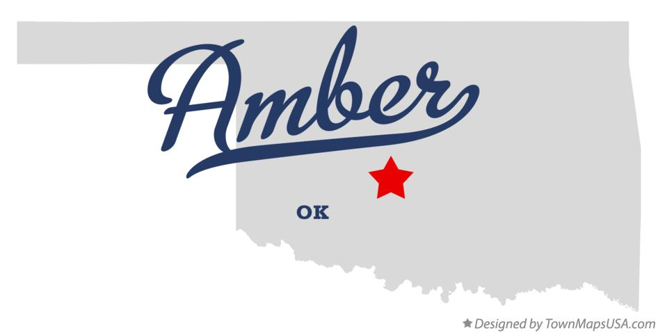 Map of Amber Oklahoma OK
