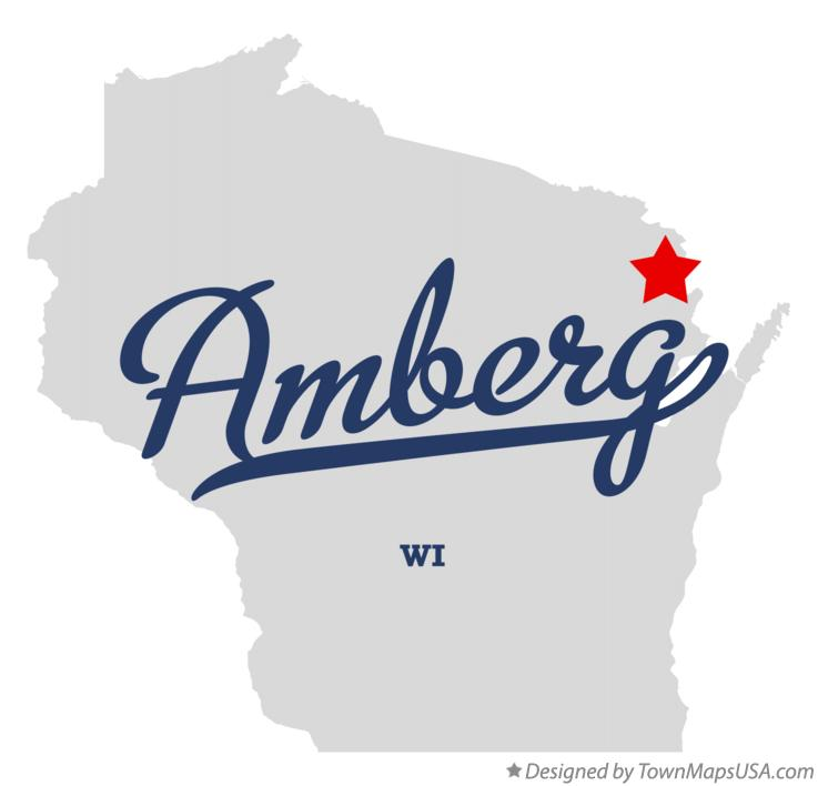 Map of Amberg Wisconsin WI
