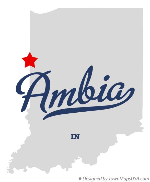 Map of Ambia Indiana IN