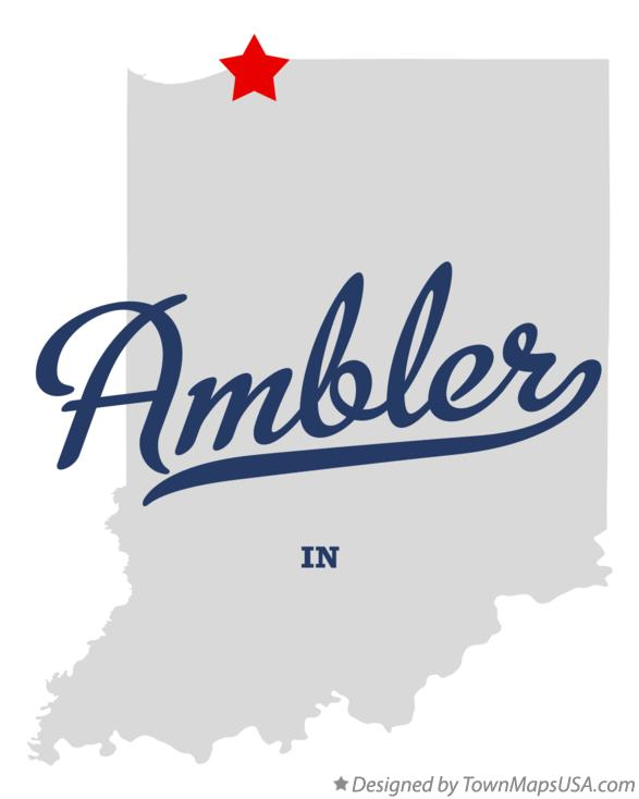 Map of Ambler Indiana IN