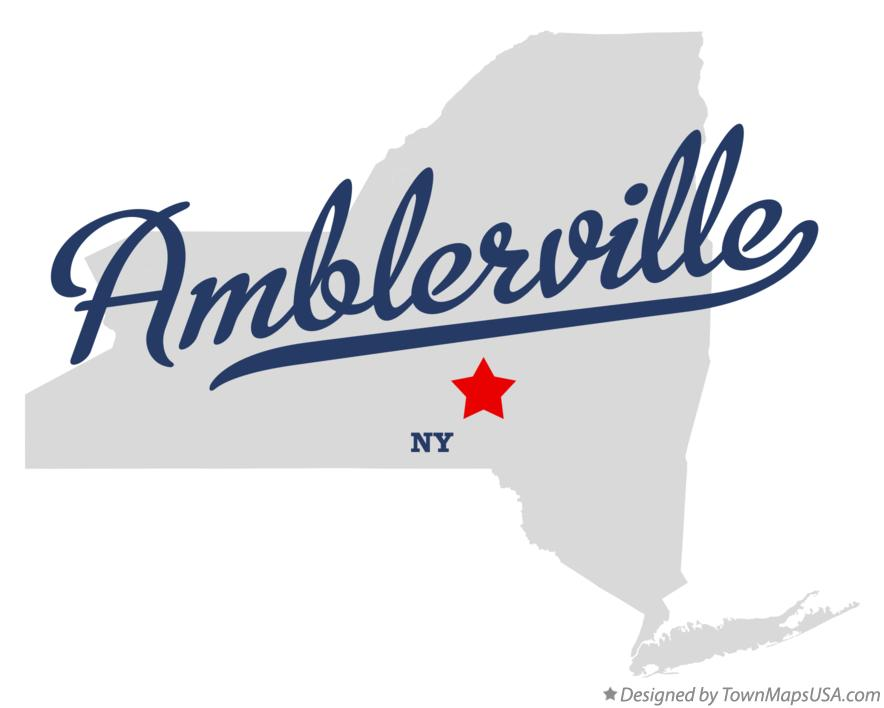 Map of Amblerville New York NY