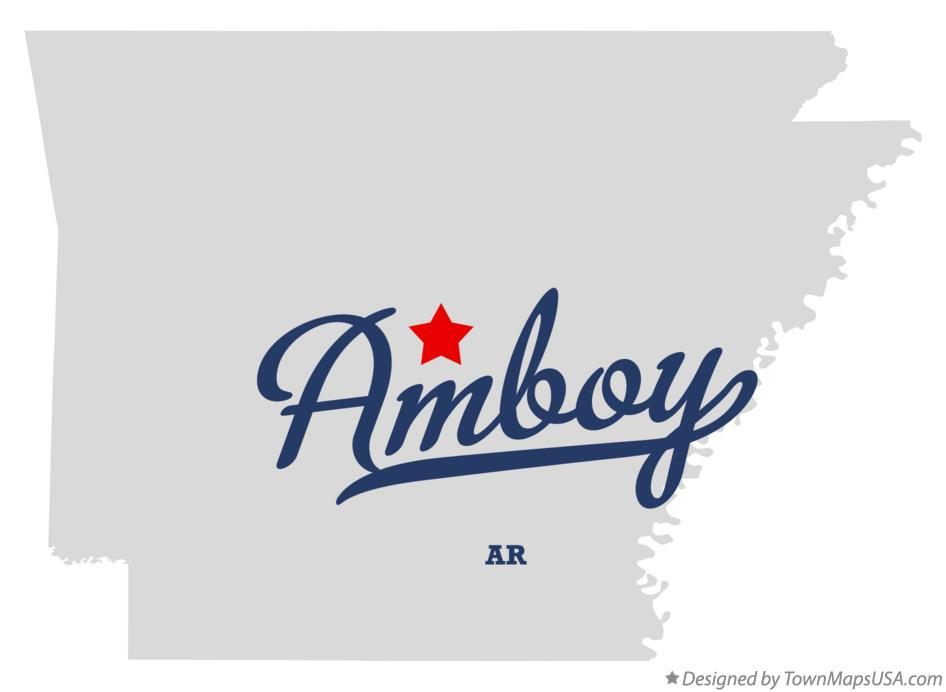 Map of Amboy Arkansas AR