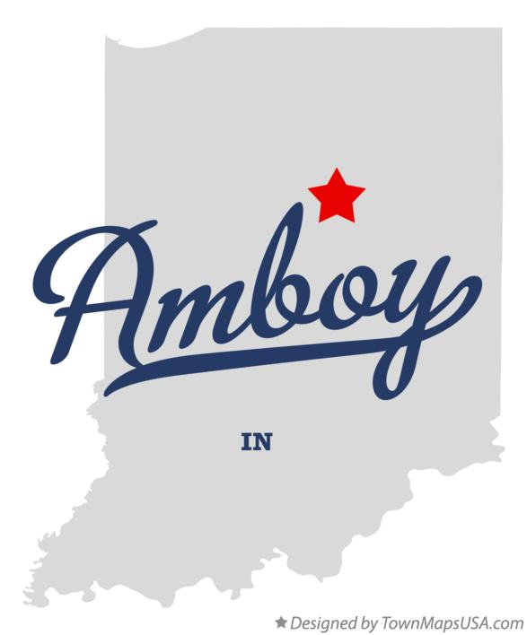 Map of Amboy Indiana IN