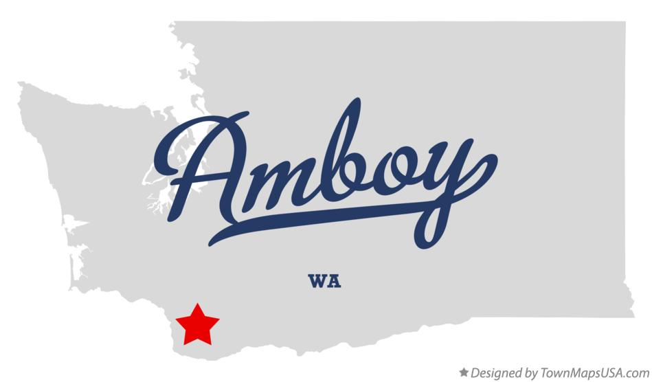 Map of Amboy Washington WA