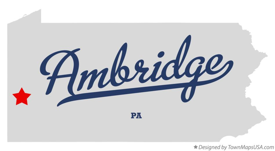 Map of Ambridge Pennsylvania PA