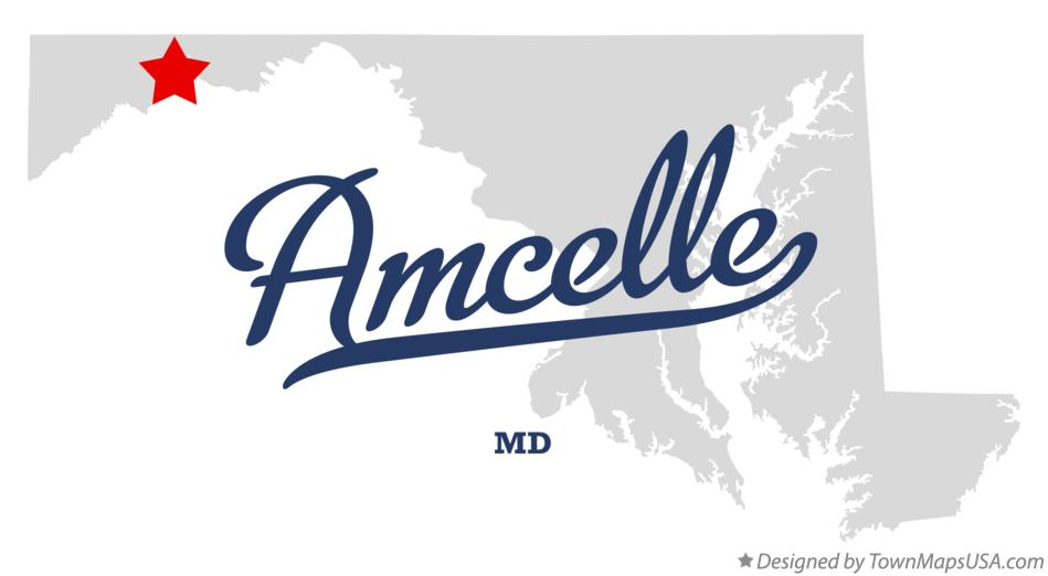 Map of Amcelle Maryland MD