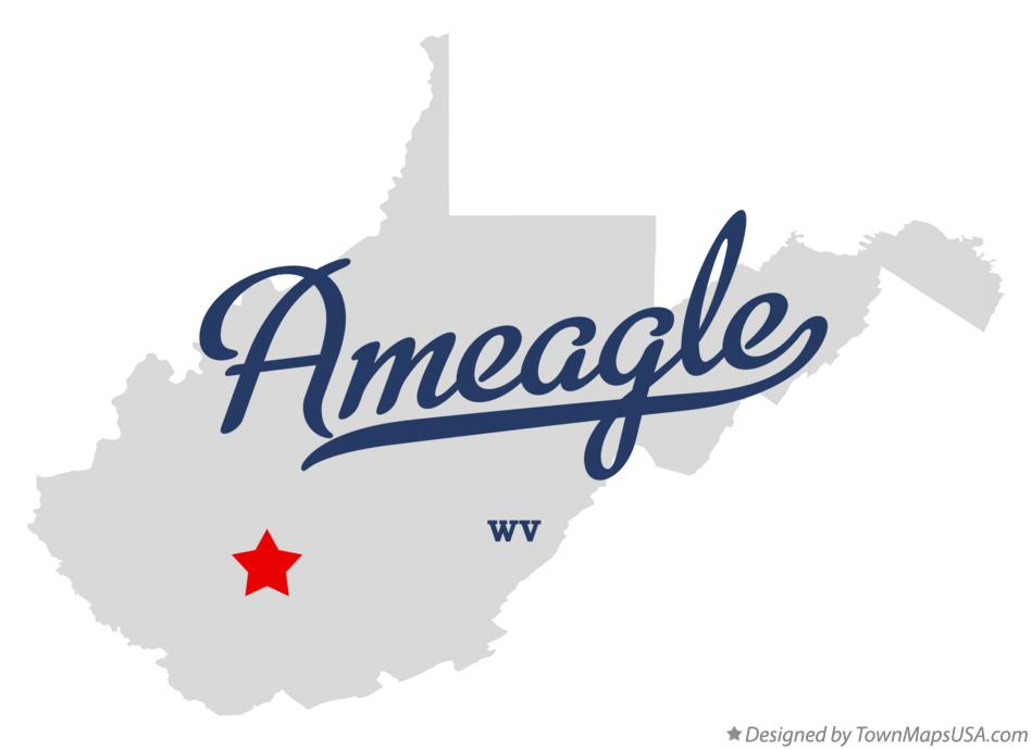 Map of Ameagle West Virginia WV