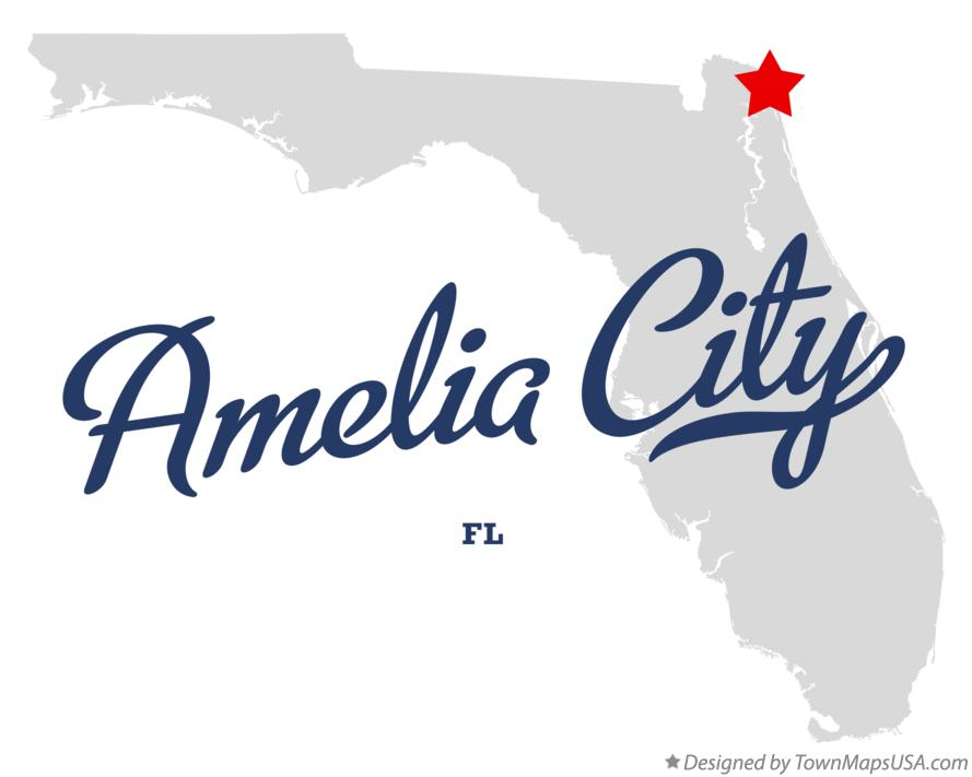 Map of Amelia City Florida FL