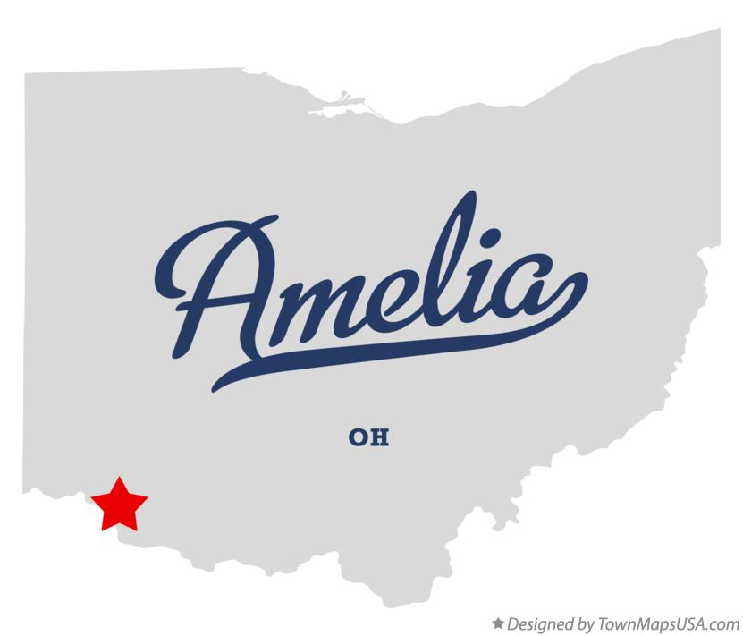Map of Amelia Ohio OH