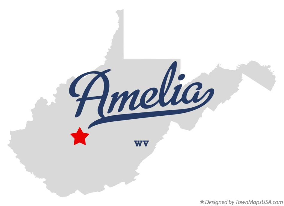 Map of Amelia West Virginia WV