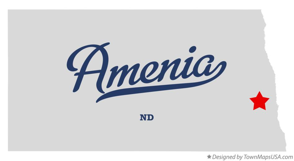 Map of Amenia North Dakota ND
