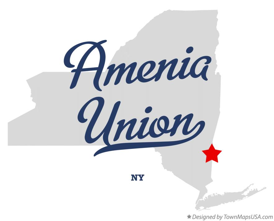 Map of Amenia Union New York NY