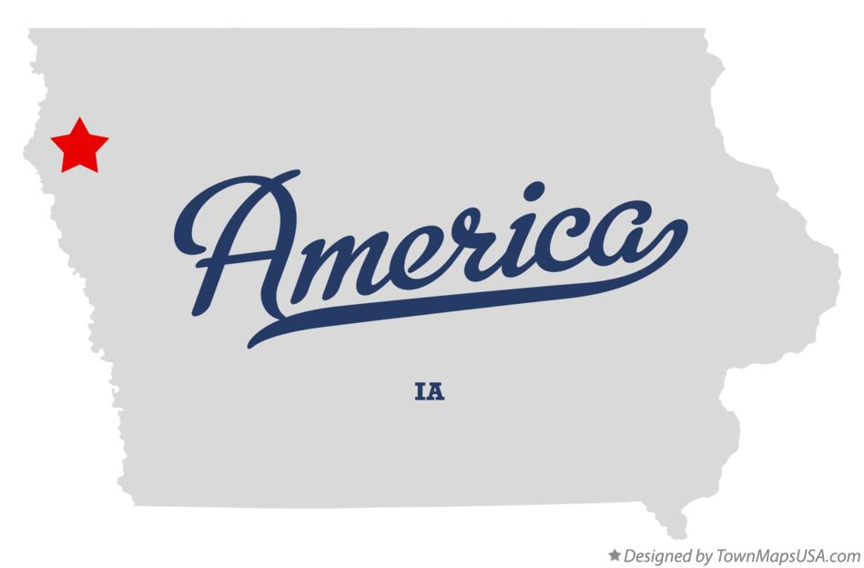Map of America Iowa IA
