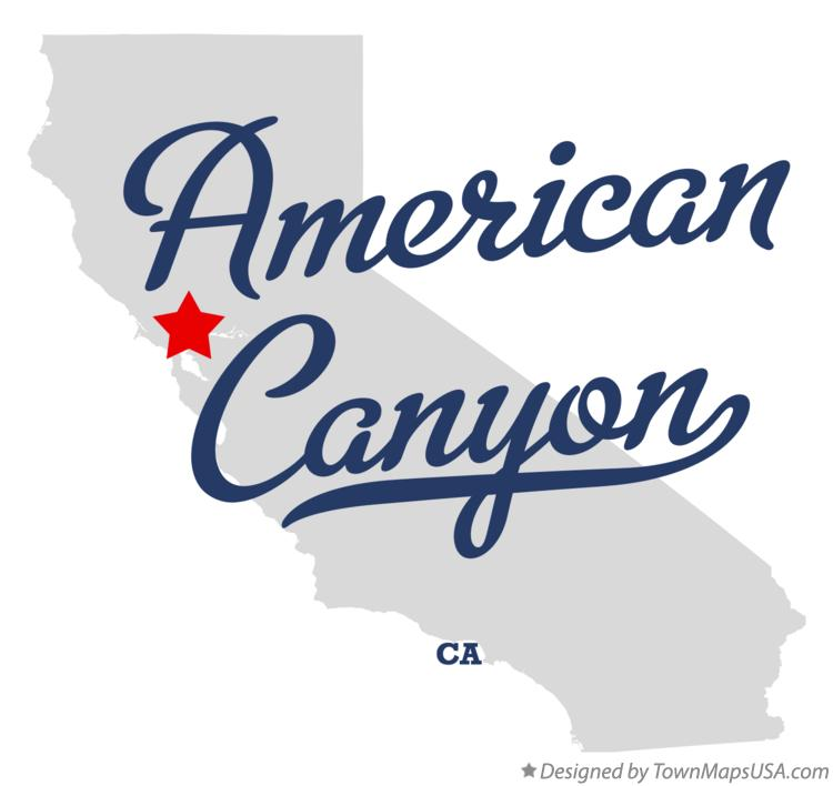 Map of American Canyon California CA