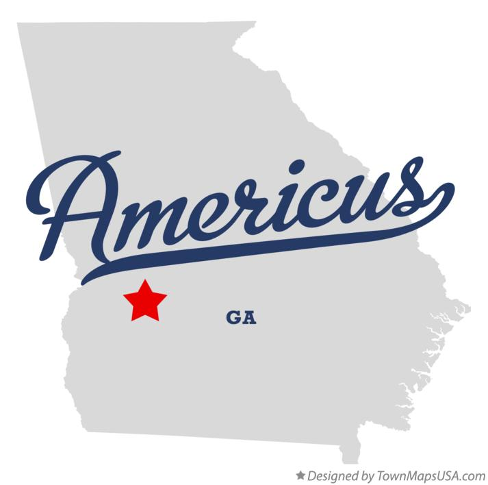 Map of Americus Georgia GA
