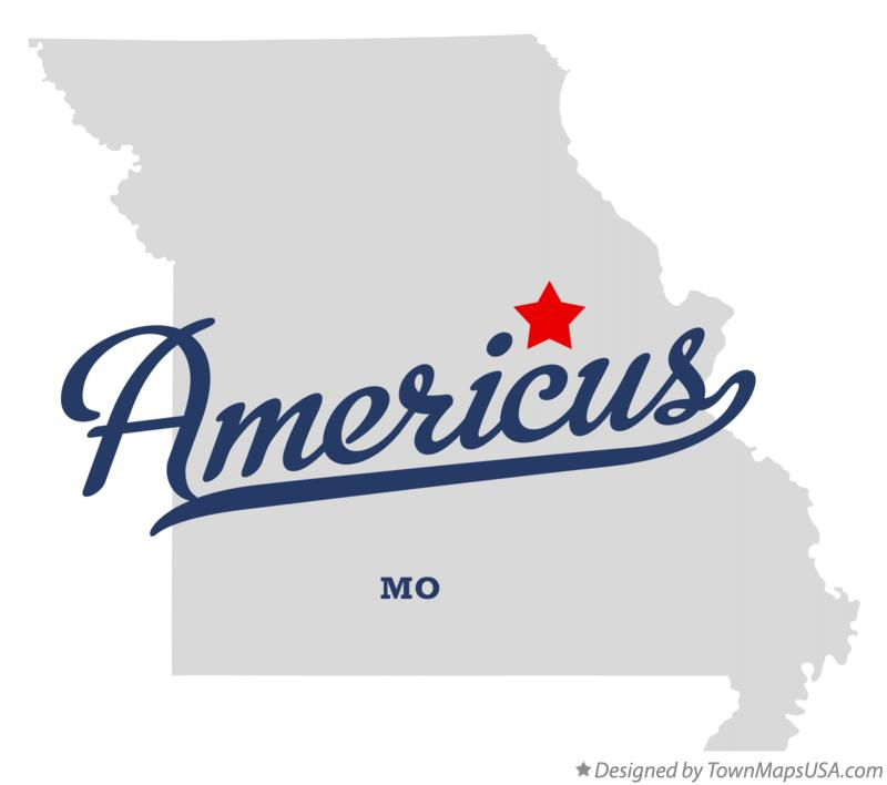 Map of Americus Missouri MO