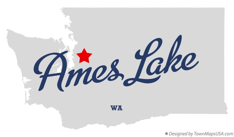 Map of Ames Lake Washington WA