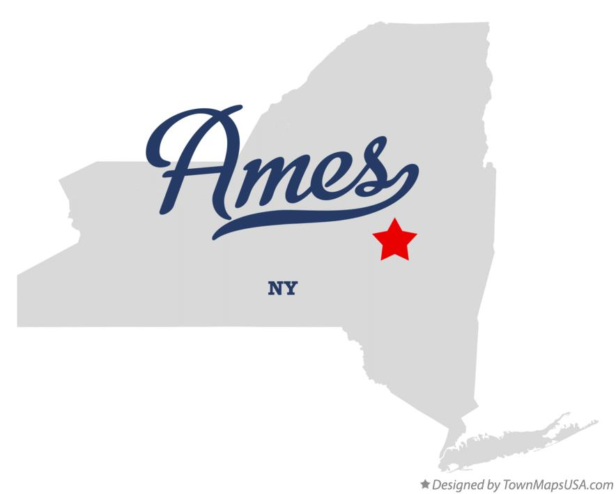 Map of Ames New York NY