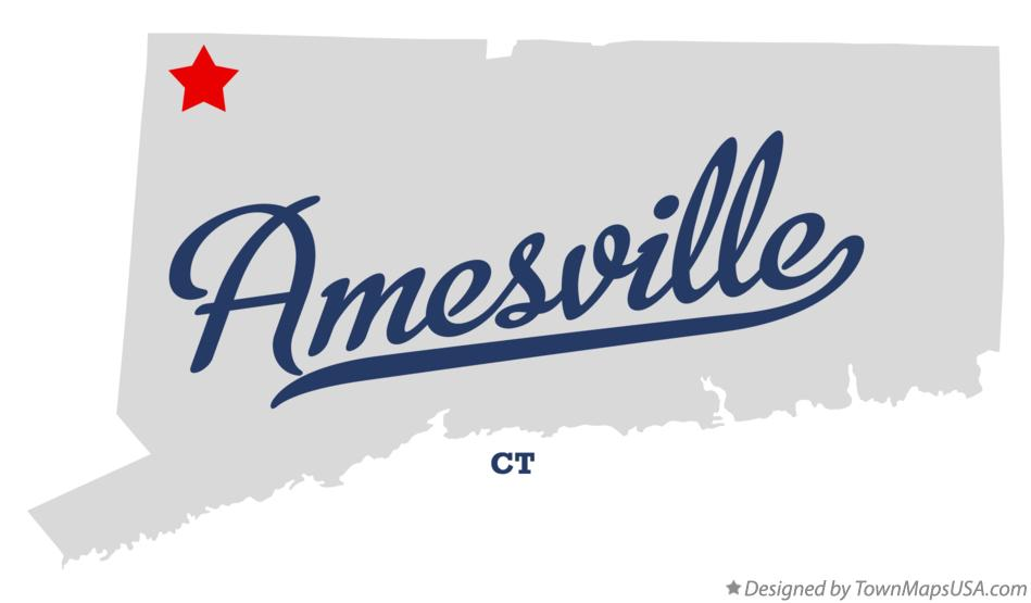 Map of Amesville Connecticut CT